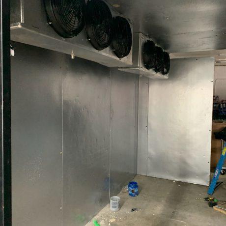 Inside Walk-in Cooler